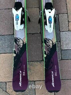 Nordica Wild Belle Skis SZ 154CM with Marker Griffin Bindings