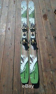Nordica wildfire skis 185 with marker kingpin bindings all new