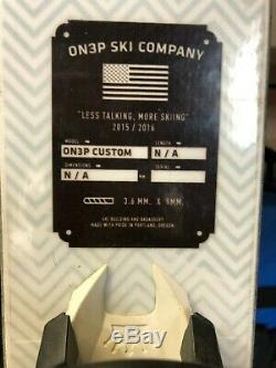 ON3P Kartel 116 Custom Skis 186cm with Marker Jester Bindings