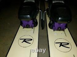Rossignol SRX Super 160CM Skis With Marker M27 Bindings & Blk Reflex 132cm Poles