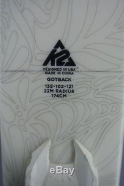 SKIS Freeride/ All Mountain -K2 GOTBACK-174cm with MARKER GRIFFON bindings