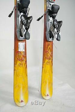 USED K2 Burnin Luv Women Skis With Marker Bindings 153cm
