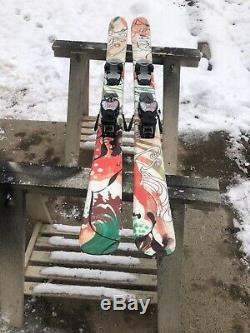 Used Youth K2 Celebrity Trick 133 CM Skis Marker Bindings Waxed And Tuned Nice