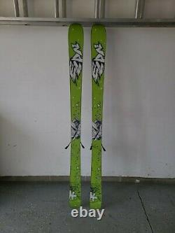 Used mens Elan skis, twin tip 170s. Marker Squires bindings mounted for size 11+