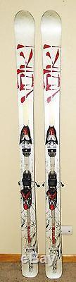 VOLKL MANTRA SKIS 177 cm with MARKER 5-14 DIN BINDINGS POWDER WIDE ALPINE SNOW