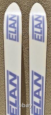 Vintage Elan Ultra 170cm Downhill Snow Skis Marker M28 Bindings Neon Colors