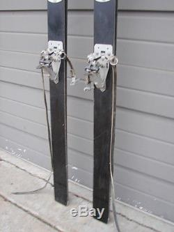 Vintage Hart All Black Skis 195cm with Marker Automatic Cober Reaktor Bindings
