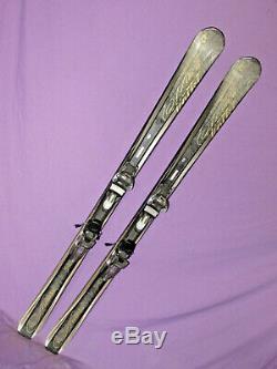 Volkl Attiva Aurora women's skis 161cm with Marker iPT Wideride adjust. Bindings