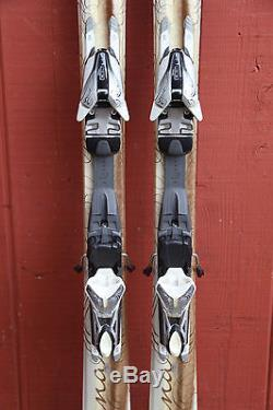 Volkl Attiva Luna Women's Downhill Skis 156 cm. With Marker Attiva Bindings NICE