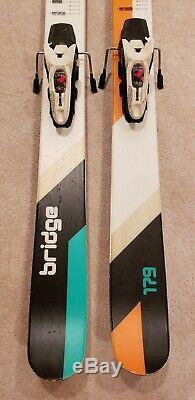 Volkl Bridge skis 179 rocker twin tips with Marker Griffon bindings