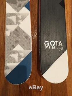 Volkl Gotama Skis 2015 178 mounted with Marker Griffon Bindings (used twice)