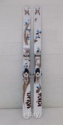 Volkl Kiku 174cm 137-106-122 Twin-Tip Rocker Camber Skis Marker Griffon Bindings