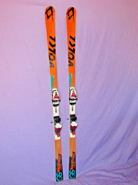 Volkl Racetiger Gs Wc Speedwall Racing Skis 183cm With Marker Race Xce16 Bindings
