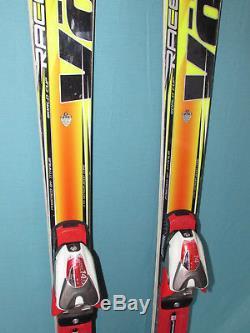 Volkl RaceTiger SL World Cup race skis 155cm with Marker COMP 14.0 ski bindings