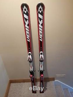 Volkl Racetiger GS 180 cm Racing Skis with Marker R Motion bindings on Plate