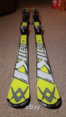 Volkl Racetiger Worldcup Speedwall Slalom Skis 157cm With Marker 12.0 Bindings