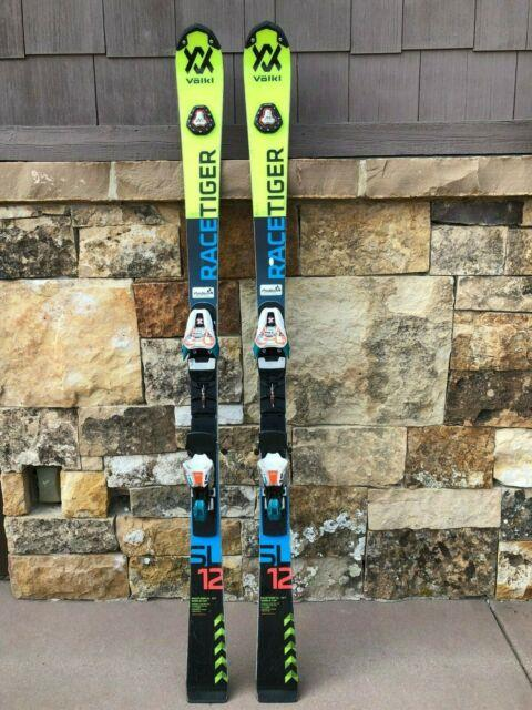 Volkl Sl Race Tiger 157cm Race Skis With Marker Race 12 Bindings 2018/2019