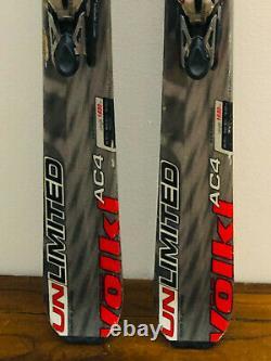 Volkl Unlimited AC4 Downhill Skis 163 cm. Marker Demo Bindings FRESH TUNE